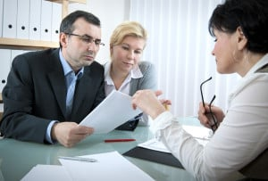 disability lawyers in New York consults with clients