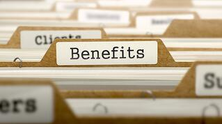 Benefits Concept. Word on Folder Register of Card Index. Selective Focus..jpeg